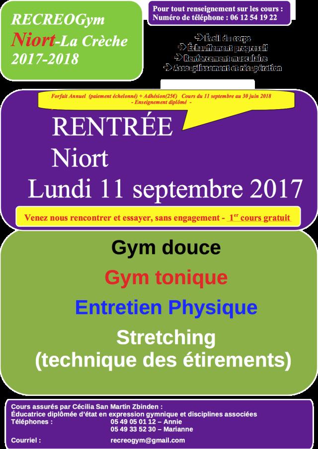 Affiche Niort saison 2017-2018