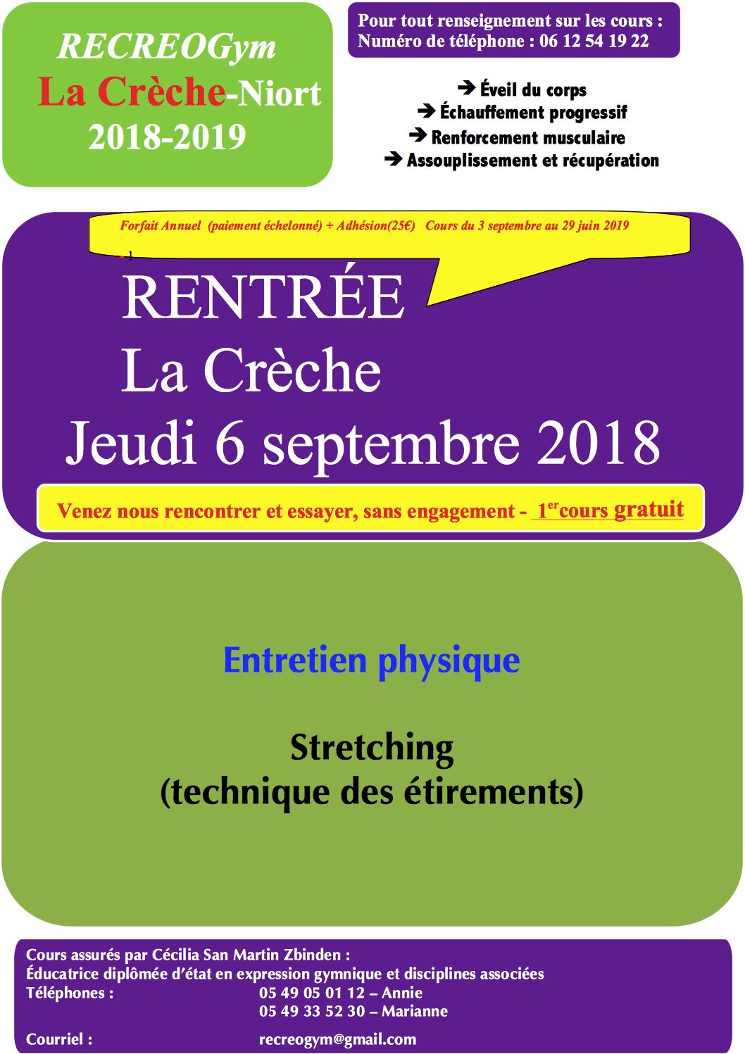 Affiche La Crèche saison 2018-2019