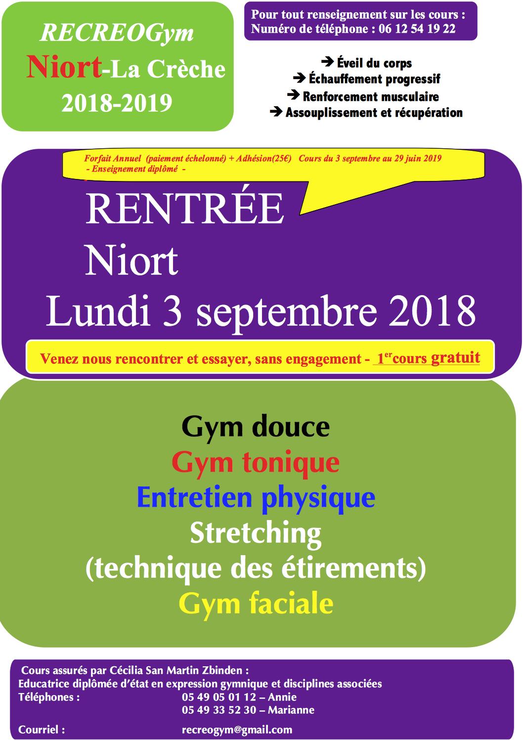 Affiche Niort saison 2018-2019